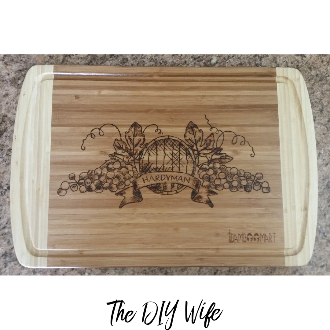 DIY Personalized Cutting Board Last Name Grapes. The DIY Wife